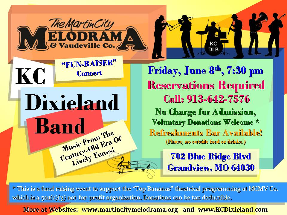 KC Dixieland Band Martin City Melodrama
